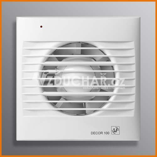 Ventilátory - DECOR - ventilátor pro odvod vzduchu z toalety, koupelny, kuchyně