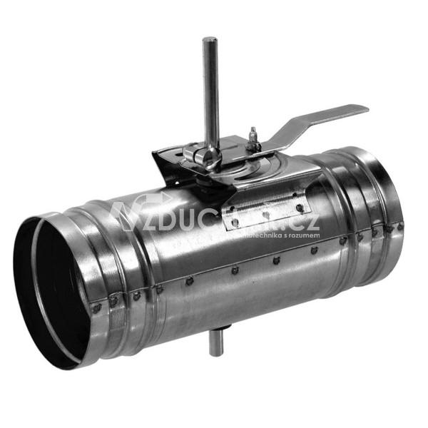 Příslušenství - KSK kruhová škrtící klapka s ručním kovovým ovládáním