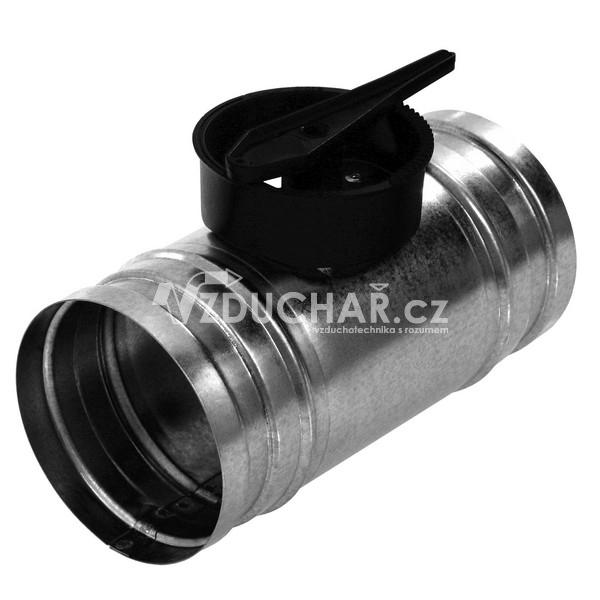 Příslušenství - KSP kruhová škrtící klapka s ručním plastovým ovládáním