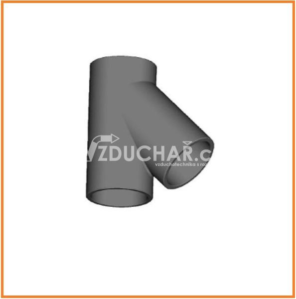 Vzduchovody - Rozbočka 45° pro potrubí HR-WTW - izolovaný potrubní systém