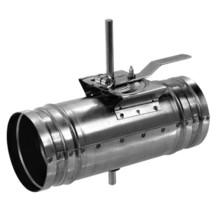 KSK kruhová škrtící klapka s ručním kovovým ovládáním